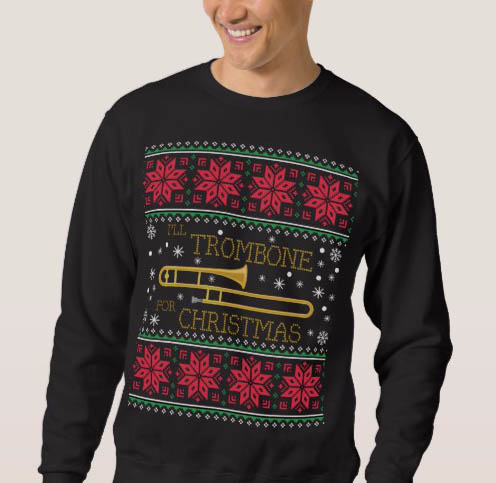 Trombone Sweatshirt for sale on Zazzle.com